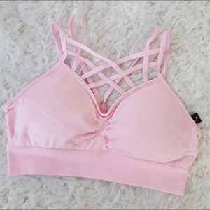 Other - Baby pink criss Cross Sports Bra Bralette